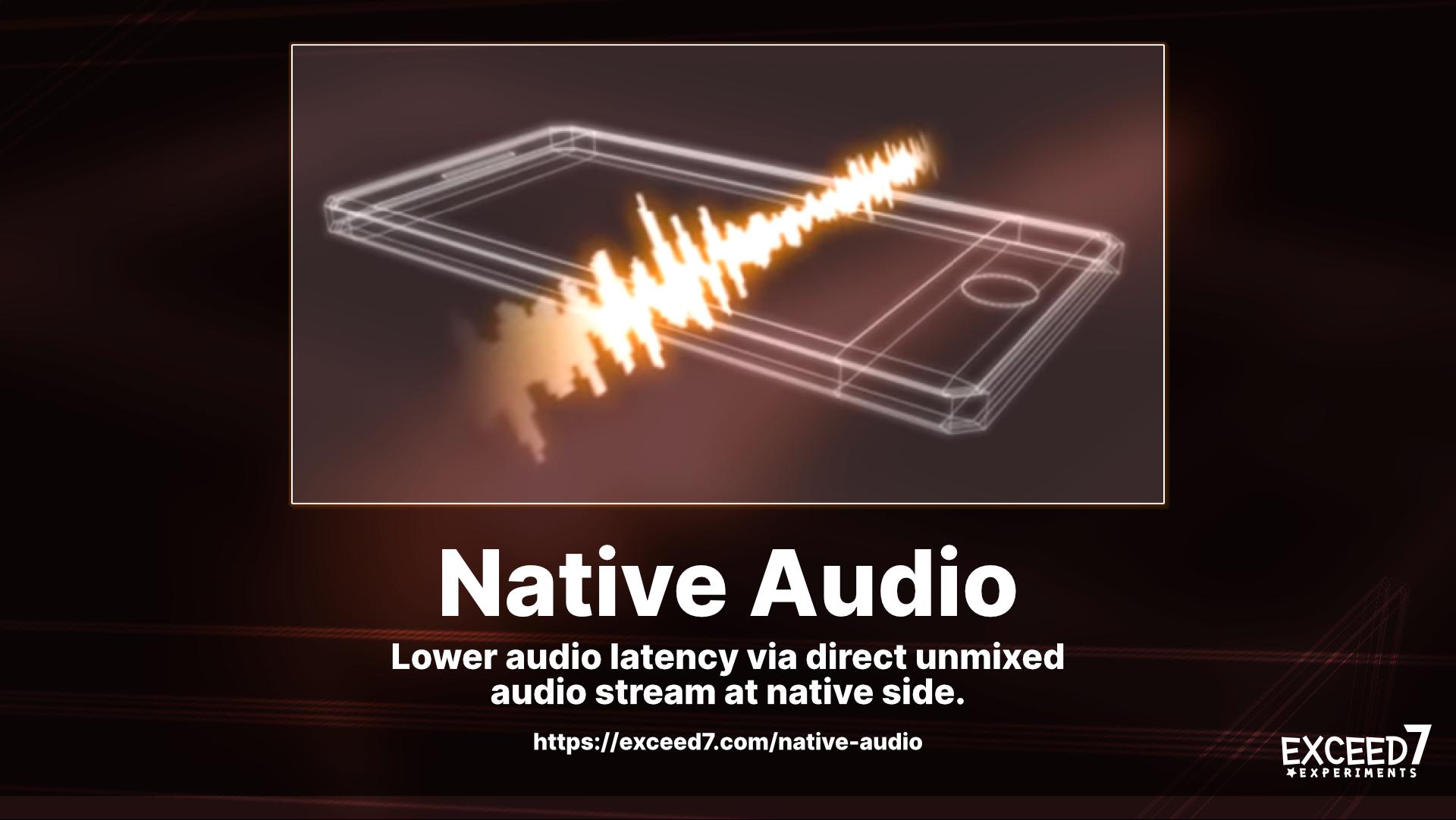 Native Audio - Lower audio latency via OS's native library